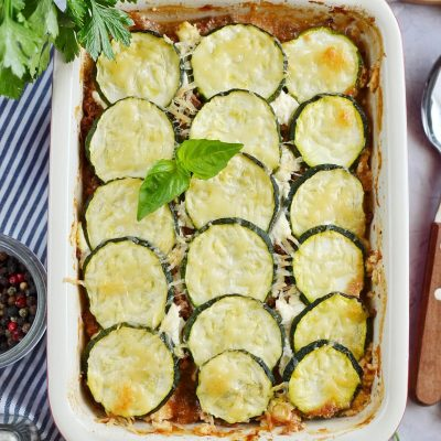 Greek Zucchini Moussaka Recipe-How To Make Greek Zucchini Moussaka-Delicious Greek Zucchini Moussaka
