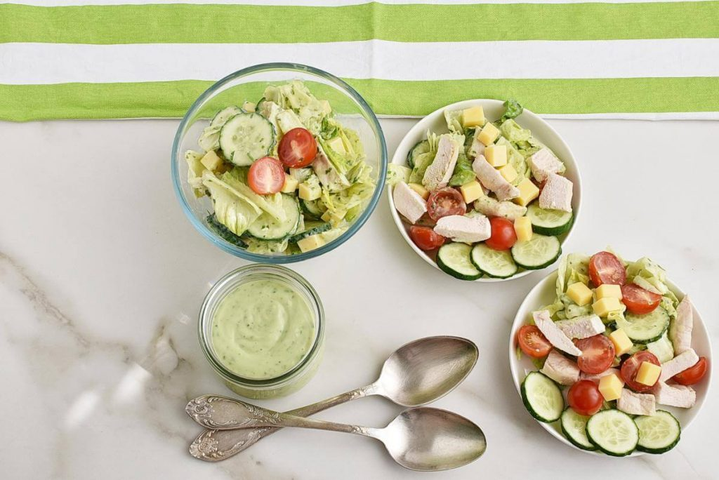 How to serve Green Goddess Salad with Chicken