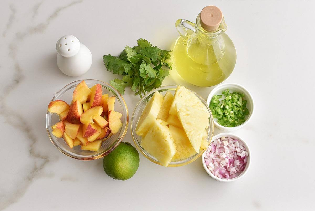 Ingridiens for Grilled Pineapple Salsa