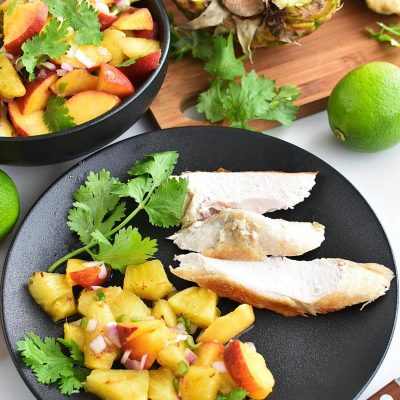 Grilled Pineapple Salsa Recipe–Homemade Grilled Pineapple Salsa–Easy Grilled Pineapple Salsa