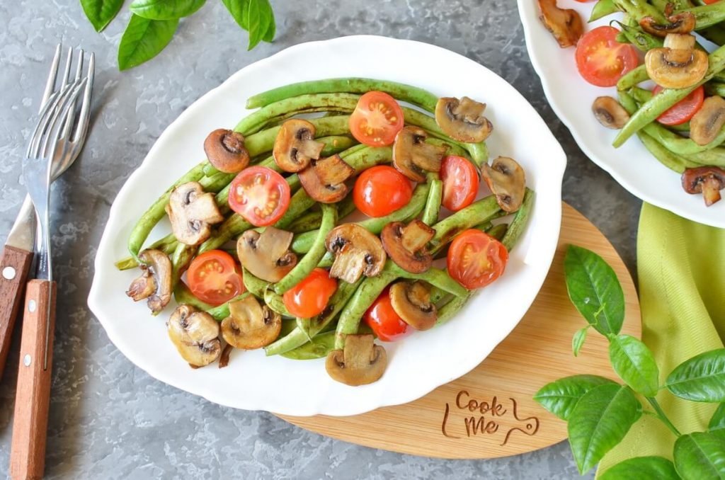 How to serve Haricots Verts with Cherry Tomatoes & Mushrooms