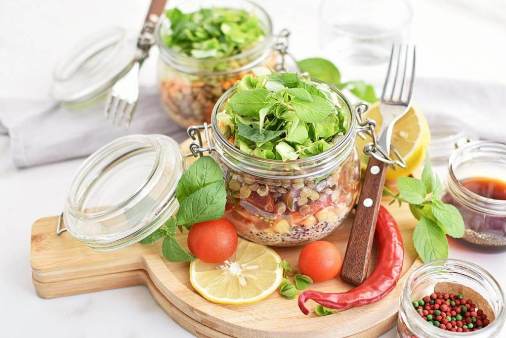 How to serve High Protein Jar Salad