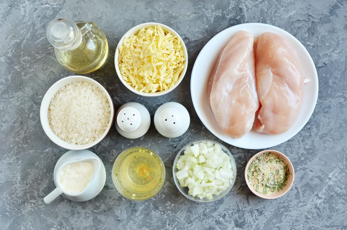 Ingridiens for Instant Pot Ranch Chicken and Rice