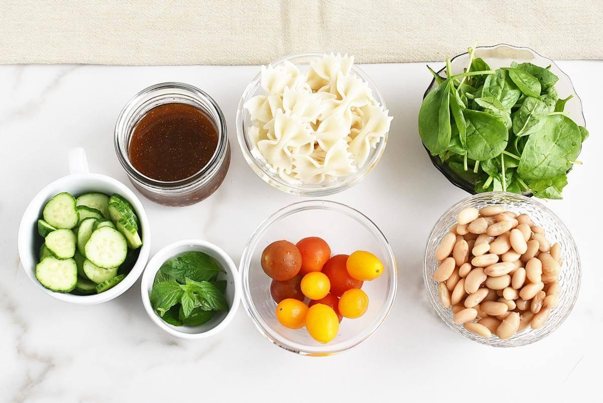 Ingridiens for Jar Pasta Salad