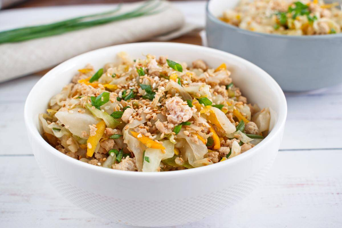 Keto Egg Roll in a Bowl recipe - Egg Roll in a Bowl - One Skillet Egg Roll in a Bowl
