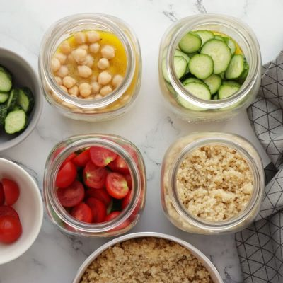 Lemon Chickpea & Quinoa Jar Salads recipe - step 3