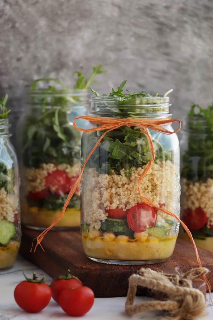 Lemon Chickpea & Quinoa Jar Salads