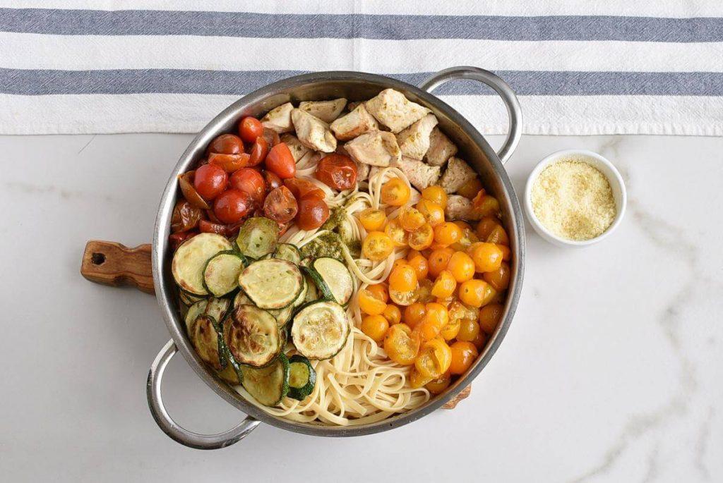 Parmesan Zucchini Tomato Chicken Spaghetti recipe - step 7