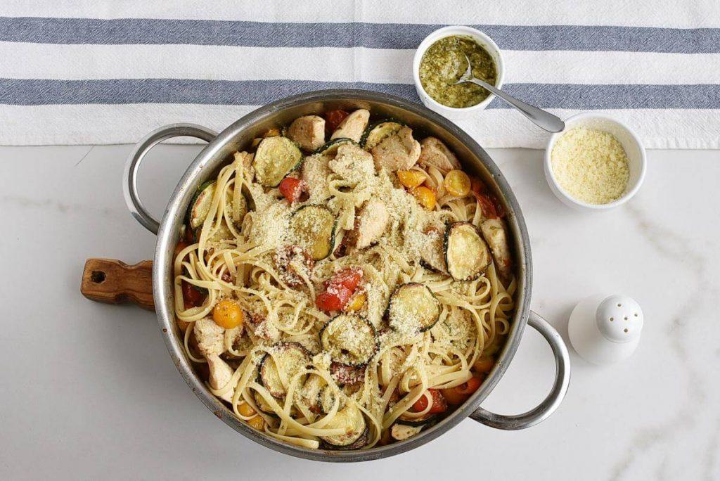 Parmesan Zucchini Tomato Chicken Spaghetti recipe - step 9