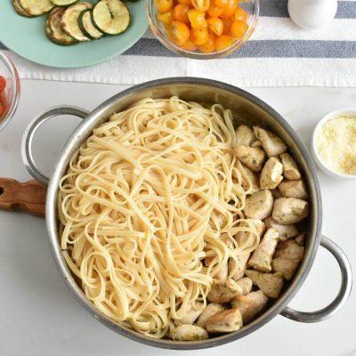 Parmesan Zucchini Tomato Chicken Spaghetti recipe - step 6