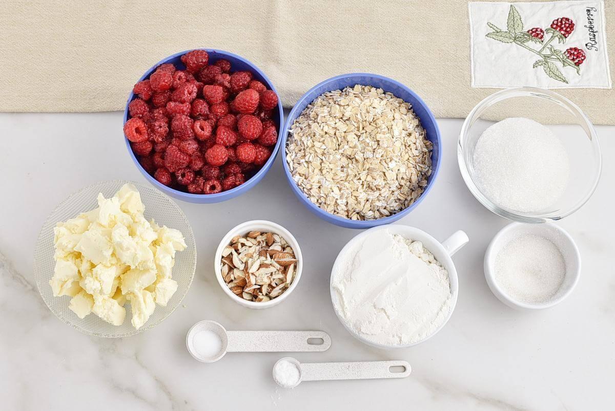 Raspberry Crumb Bars Recipe–Homemade Raspberry Crumb Bars–Easy Sausage Raspberry Crumb Bars