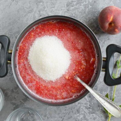 Raspberry Peach Freezer Jam recipe - step 3