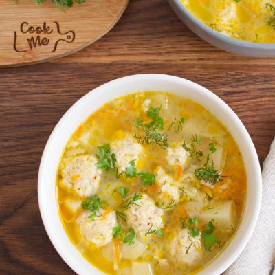 Russian Meatball Soup recipe - Russian Frikadeller Soup - Mom's Meatball Soup Recipe