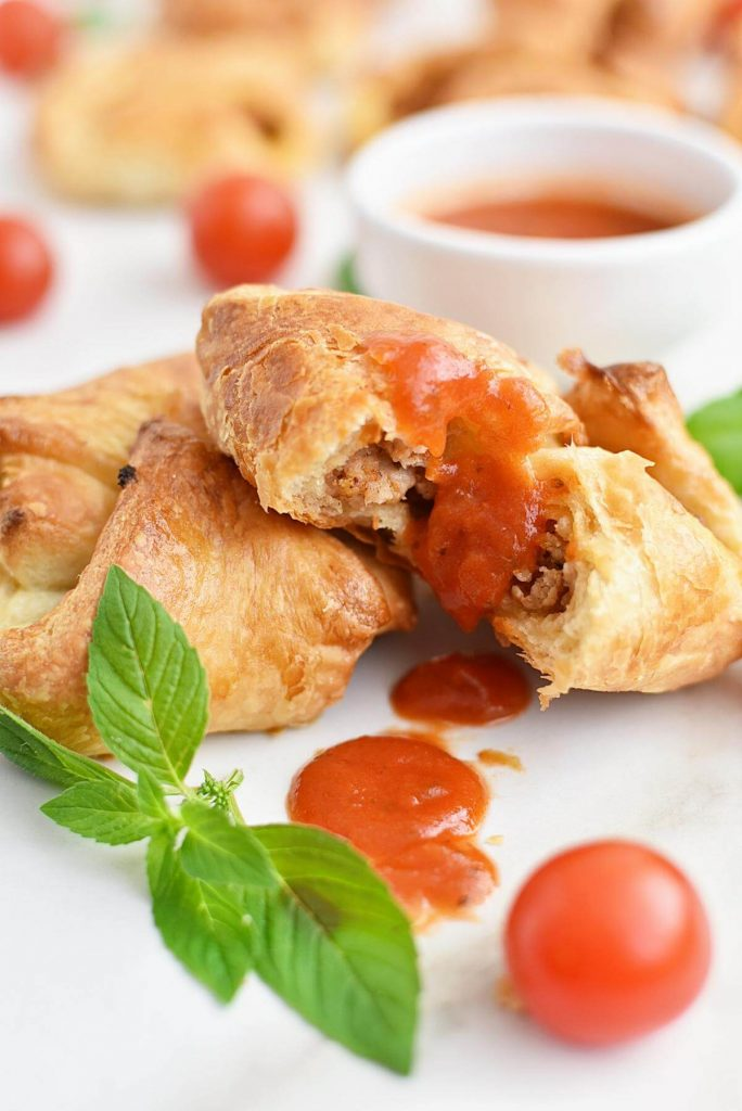 Puff pastry with a spicy filling