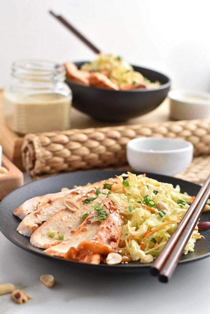 Sesame Chicken Salad Recipe–Homemade Sesame Chicken Salad–Easy Sesame Chicken Salad