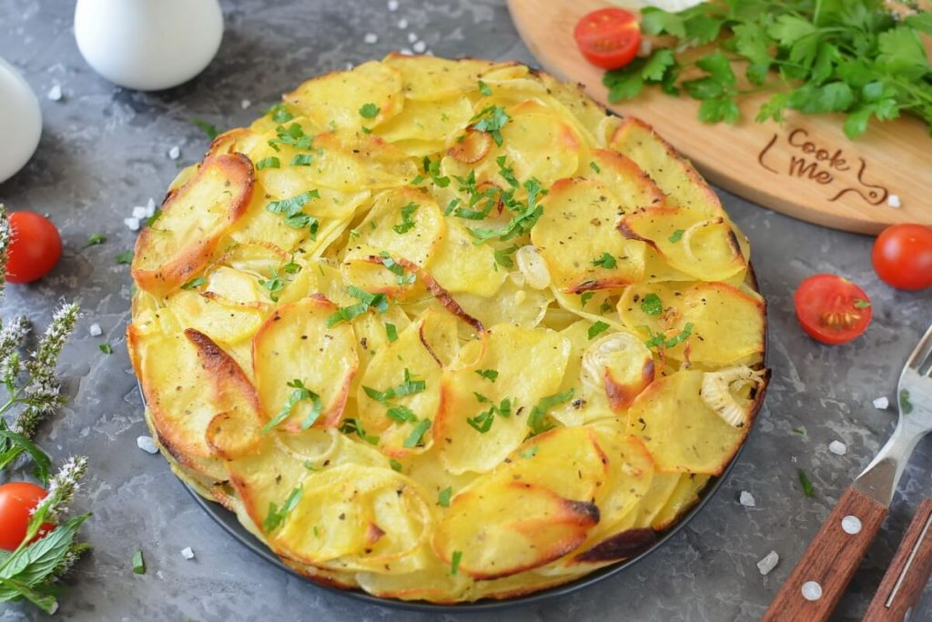 Simple Potato Cake with Onions Recipe-How To Make Simple Potato Cake with Onions-Delicious Simple Potato Cake with Onions