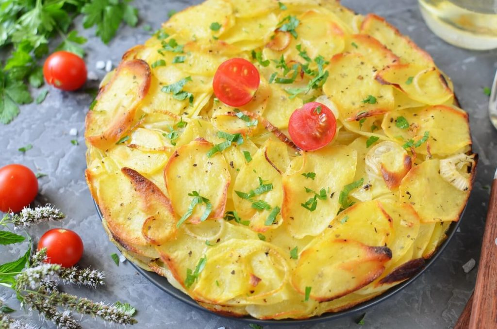How to serve Simple Potato Cake with Onions