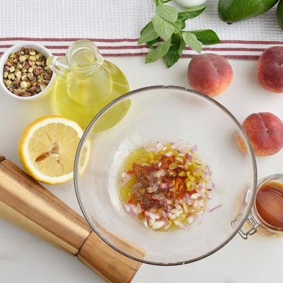Spicy Peach and Avocado Salad recipe - step 1