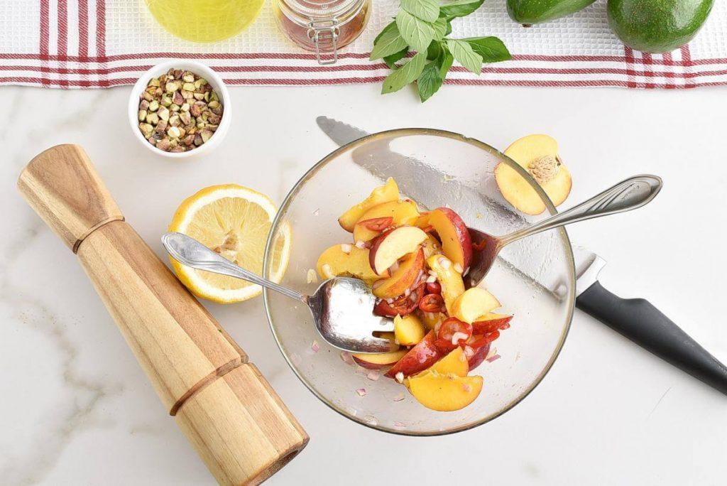 Spicy Peach and Avocado Salad recipe - step 2