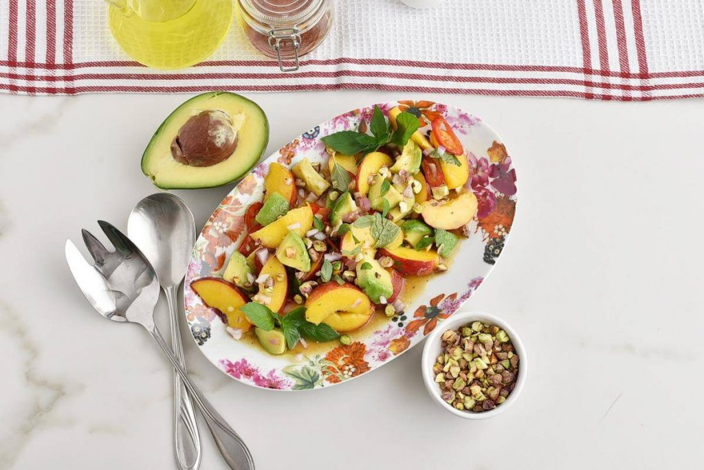 How to serve Spicy Peach and Avocado Salad