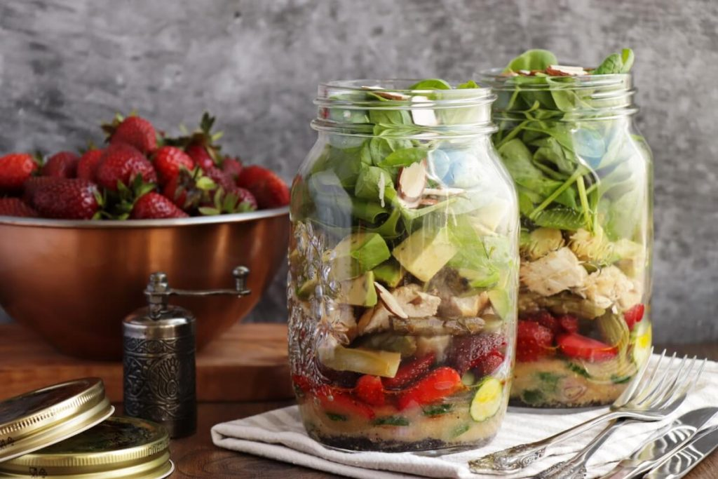 How to serve Strawberry Spinach Jar Salad