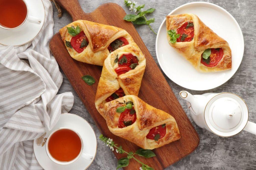 How to serve Tomato Basil Pastries