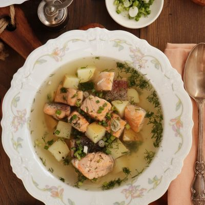 Ukha (Russian Fish Soup) Recipe-Healthy Fish Soup- Easy Salmon Trout Soup