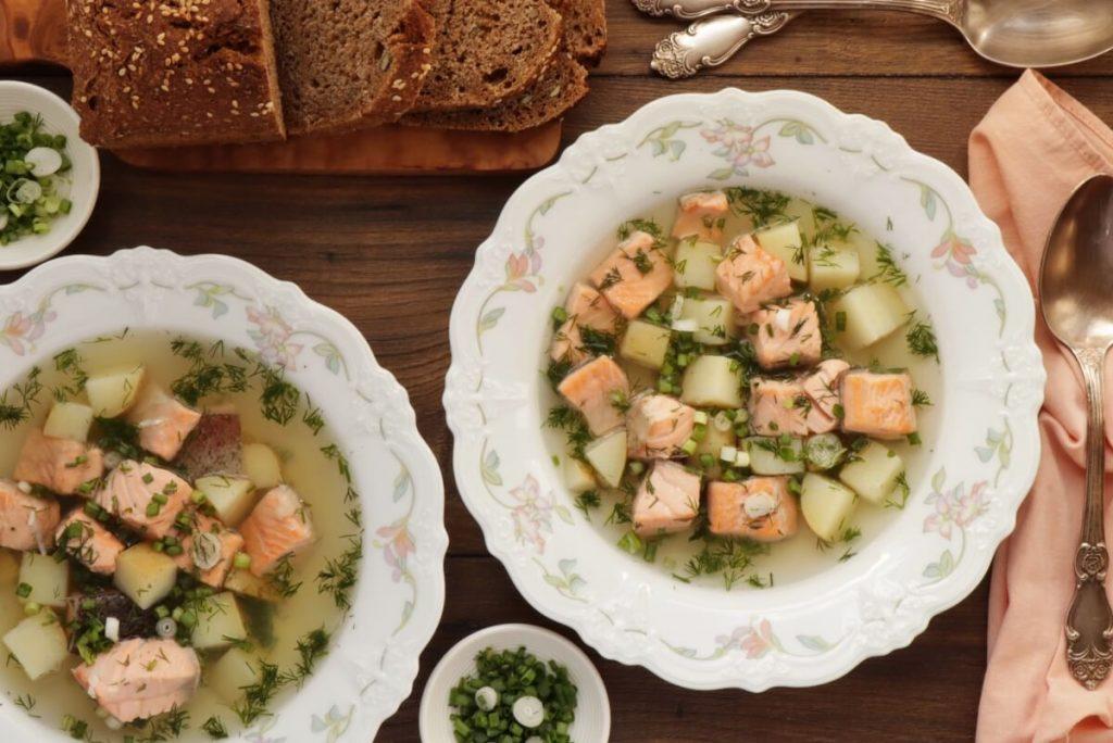 Ukha (Russian Fish Soup) Recipe-Healthy Fish Soup- Easy Salmon Trout Soup