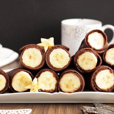Vegan Chocolate Crepes with Banana Recipe-Chocolate Crepes-Dairy-Free Chocolate Crepes