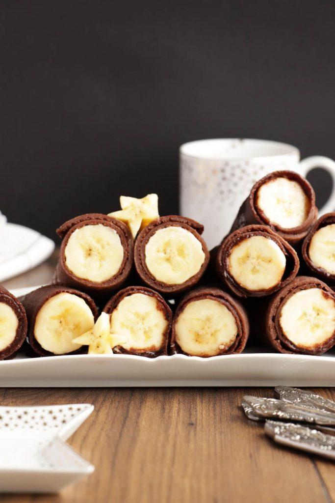 Vegan Chocolate Crepes with Banana