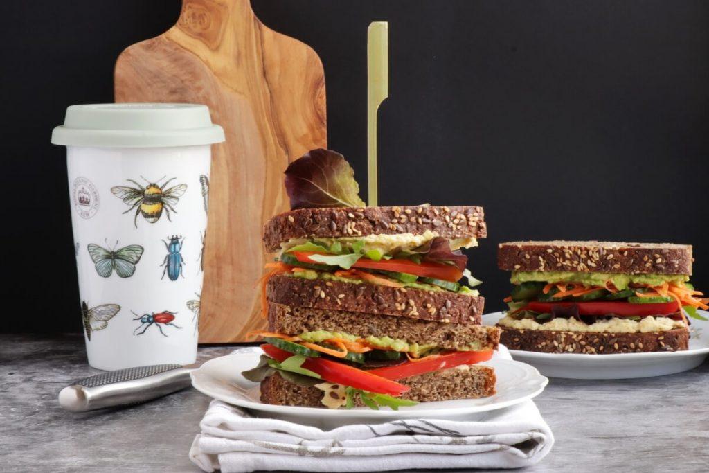 How to serve Veggie & Hummus Sandwich