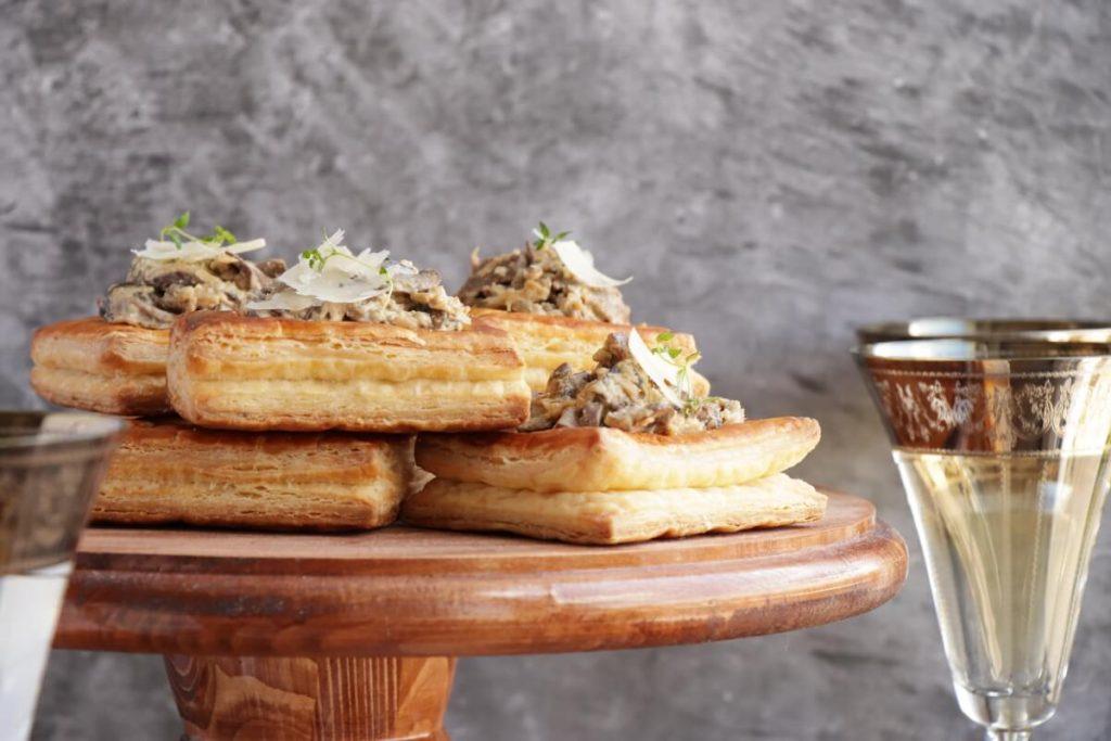 Wild Mushroom & Parmesan Vol-au-Vent Filling Recipe-Mushroom Vol au Vent-Mushroom Appetizers