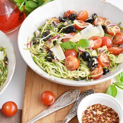 Zucchini Noodle Pasta Salad Recipe–Homemade Zucchini Noodle Pasta Salad–Easy Zucchini Noodle Pasta Salad