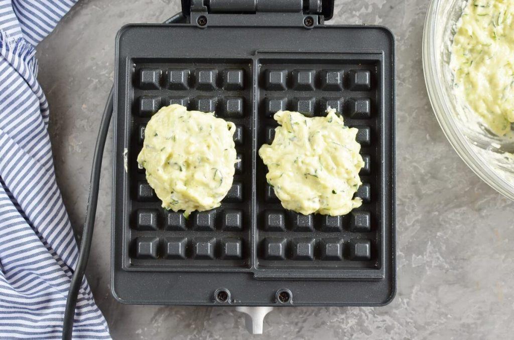 Zucchini & Parmesan Savory Waffles recipe - step 6