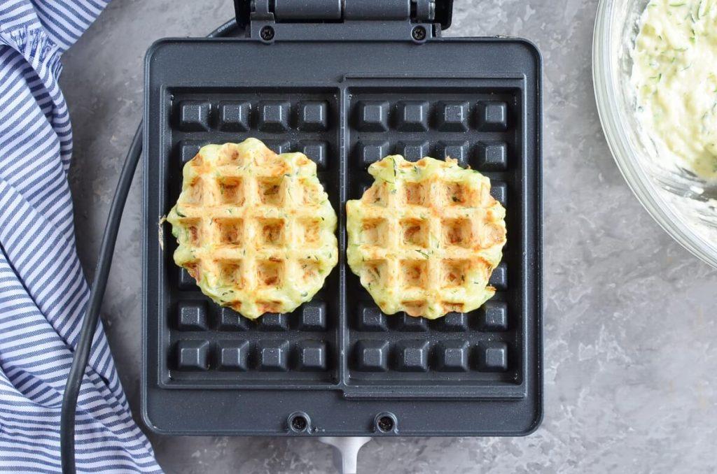 Zucchini & Parmesan Savory Waffles recipe - step 7