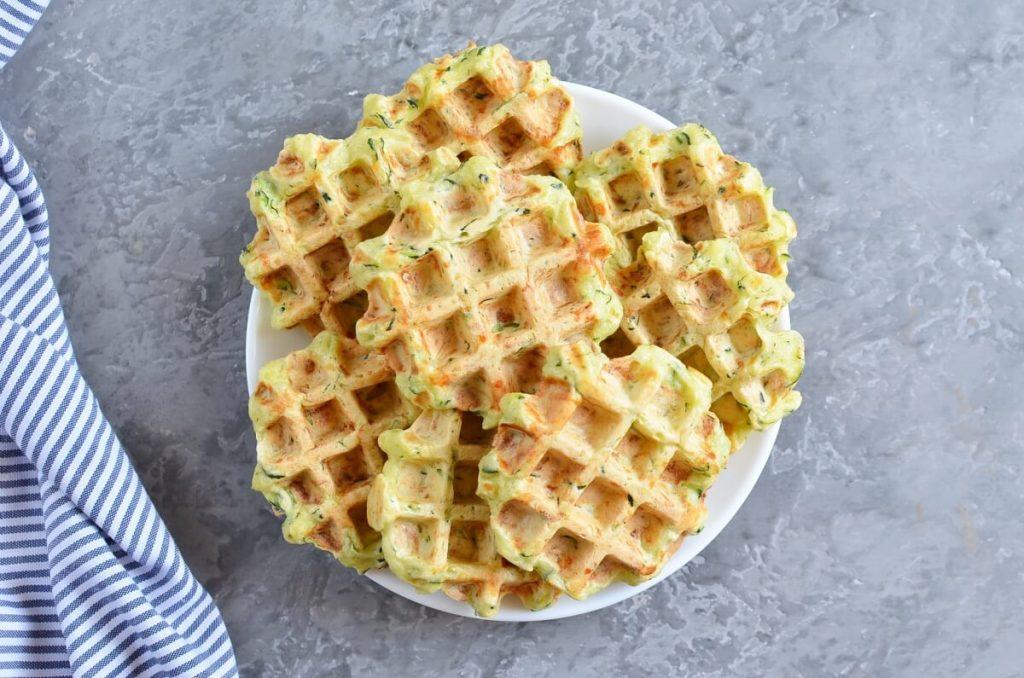 Zucchini & Parmesan Savory Waffles recipe - step 8