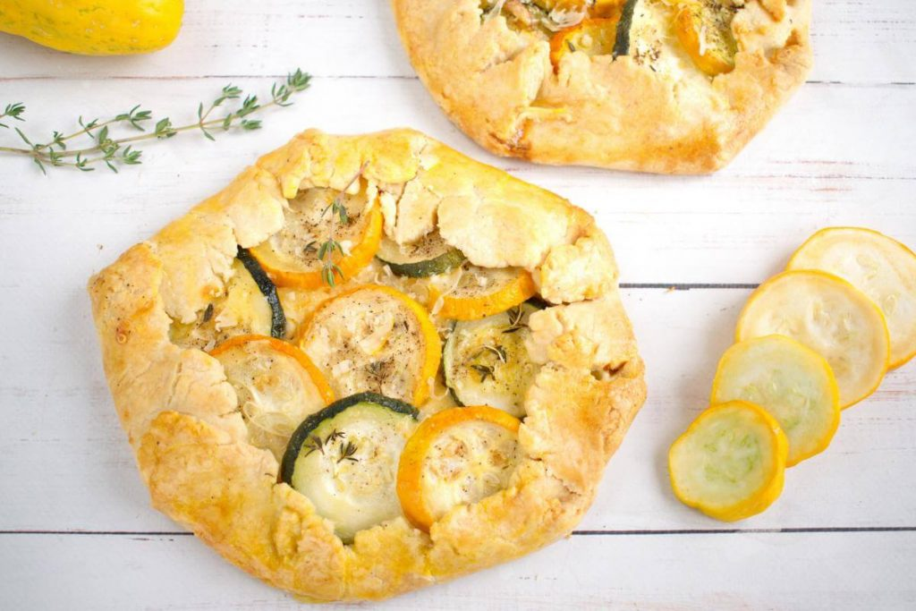 How to serve Zucchini and Goat Cheese Galettes