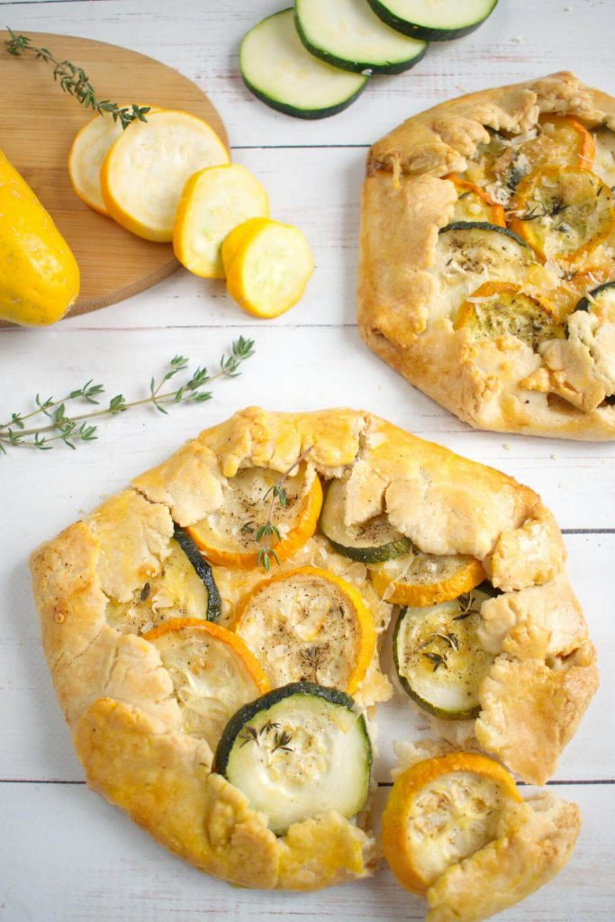Zucchini and Two Cheese Pastry Pie