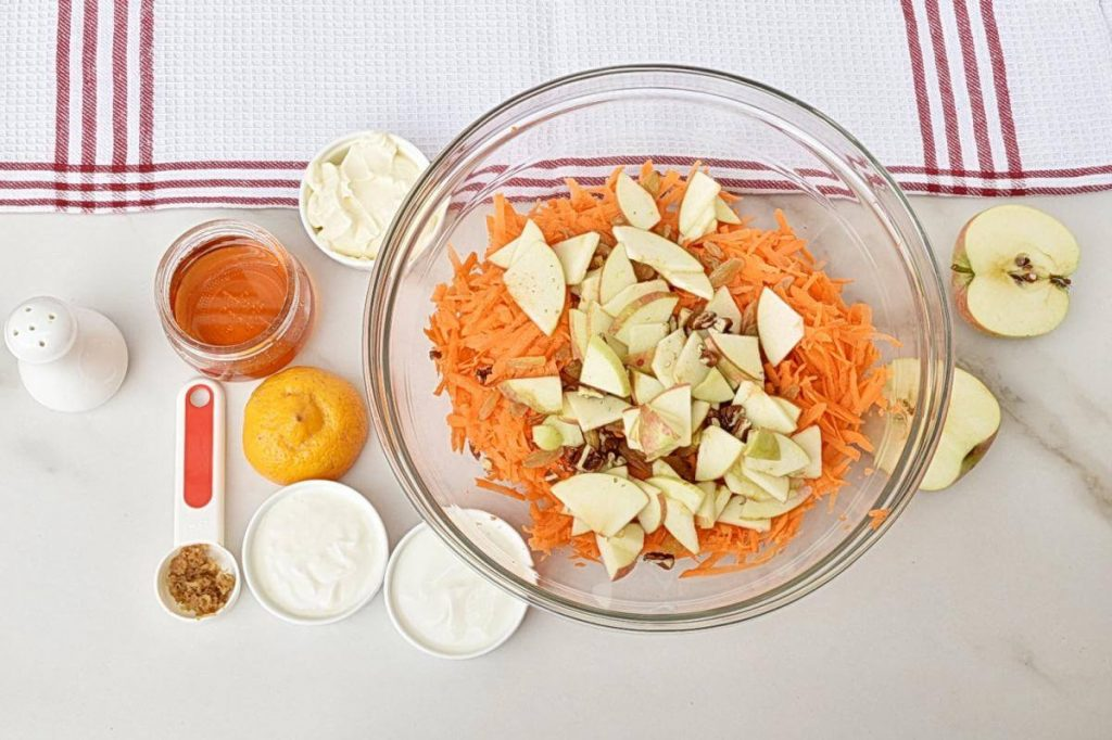 Carrot Apple Raisin Salad recipe - step 1