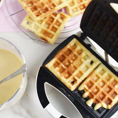 Donut-Glazed Yeasted Waffles recipe - step 8
