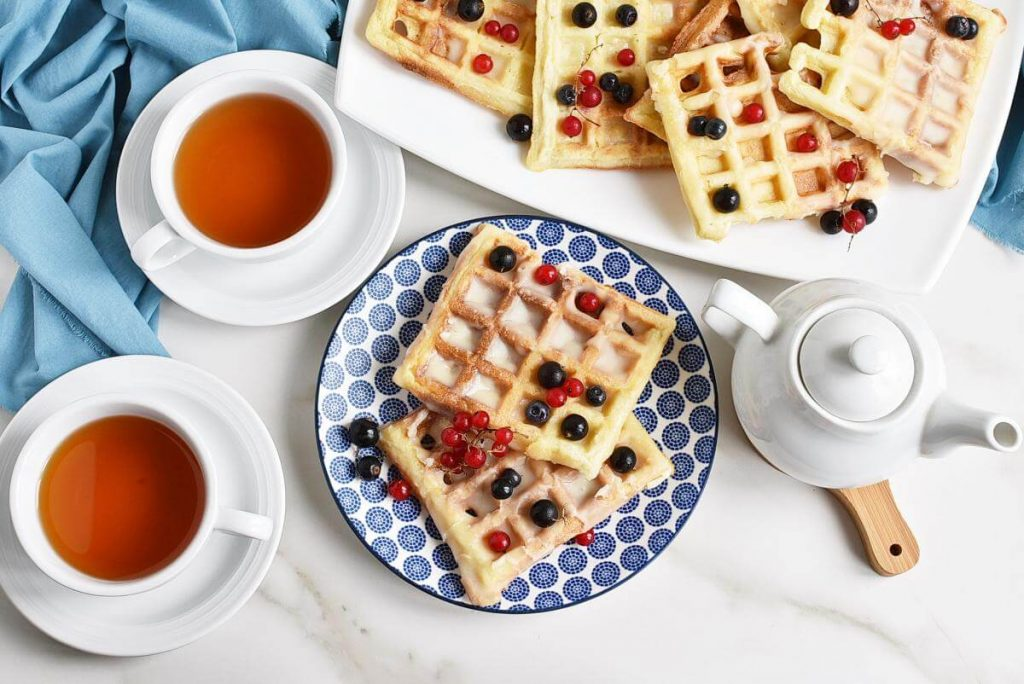 How to serve Donut-Glazed Yeasted Waffles