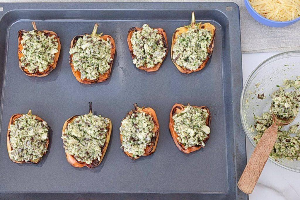 Easy Chicken Pesto Stuffed Peppers recipe - step 4