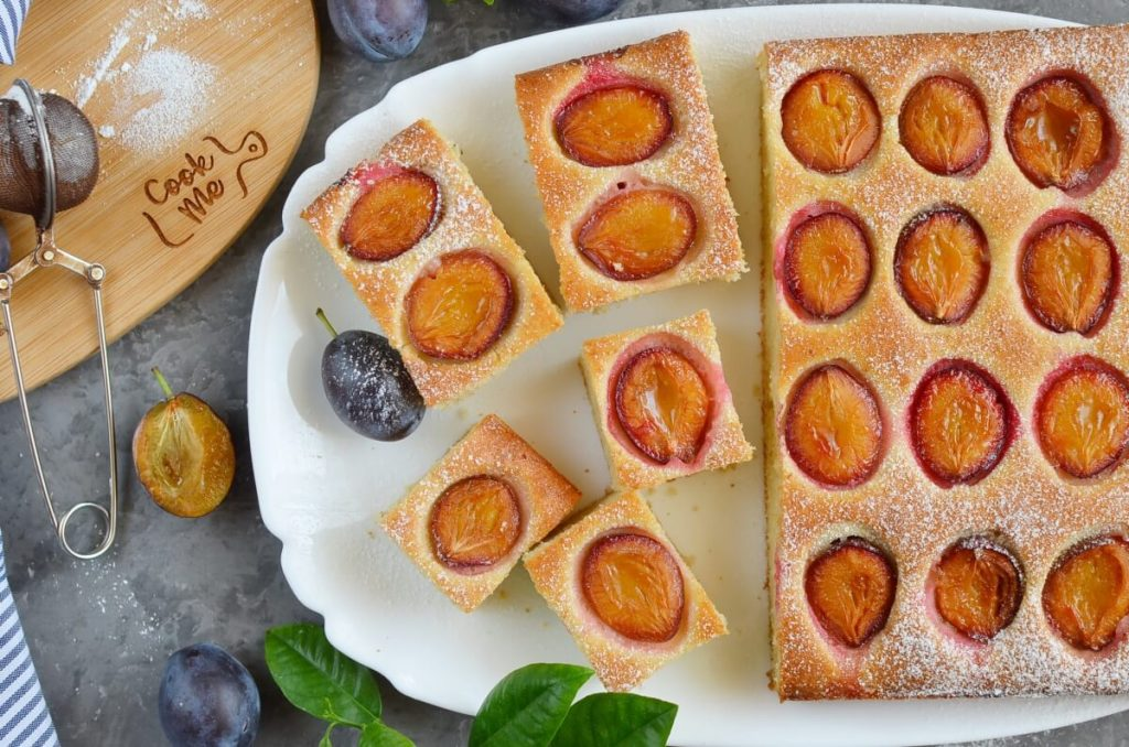 How to serve French Coffee Plum Cake