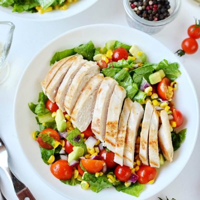 Grilled Chicken Corn Salad Recipe-How To Make Grilled Chicken Corn Salad-Delicious Grilled Chicken Corn Salad