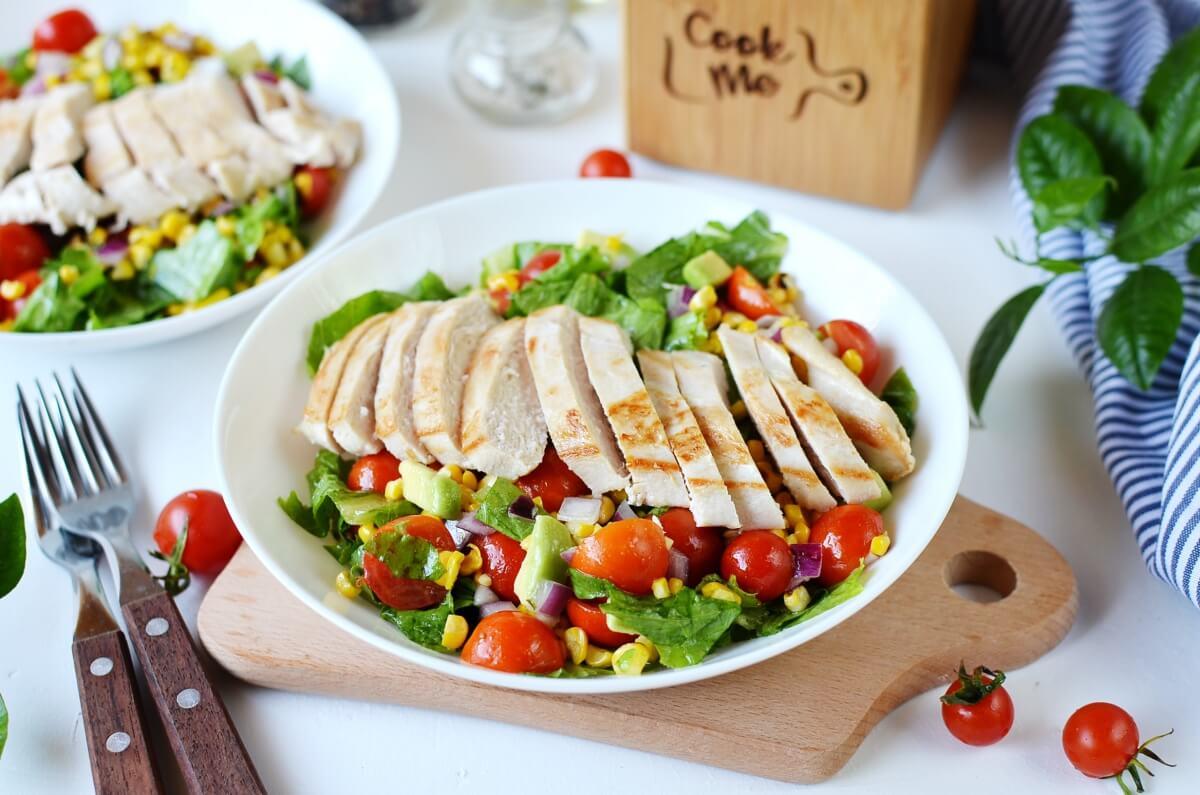 Grilled Chicken Corn Salad Recipe-How To Make Grilled Chicken Corn Salad-Delicious Grilled Chicken Corn Salad