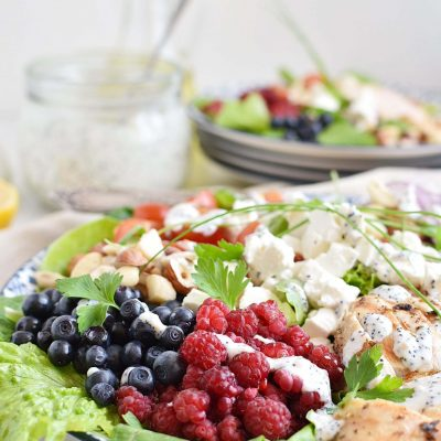 Grilled Chicken Salad with Raspberry Recipe–Homemade Grilled Chicken Salad with Raspberry–Easy Grilled Chicken Salad with Raspberry