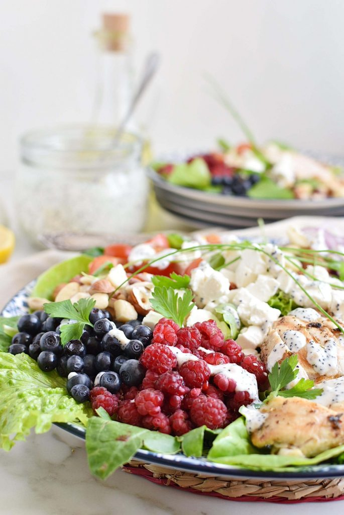 Delicious salad with poppyseed dressing