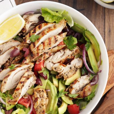 Grilled Lemon and Herb Mediterranean Chicken Salad Recipe-Grilled Lemon Herb Mediterranean Chicken Salad-Grilled Chicken Salad