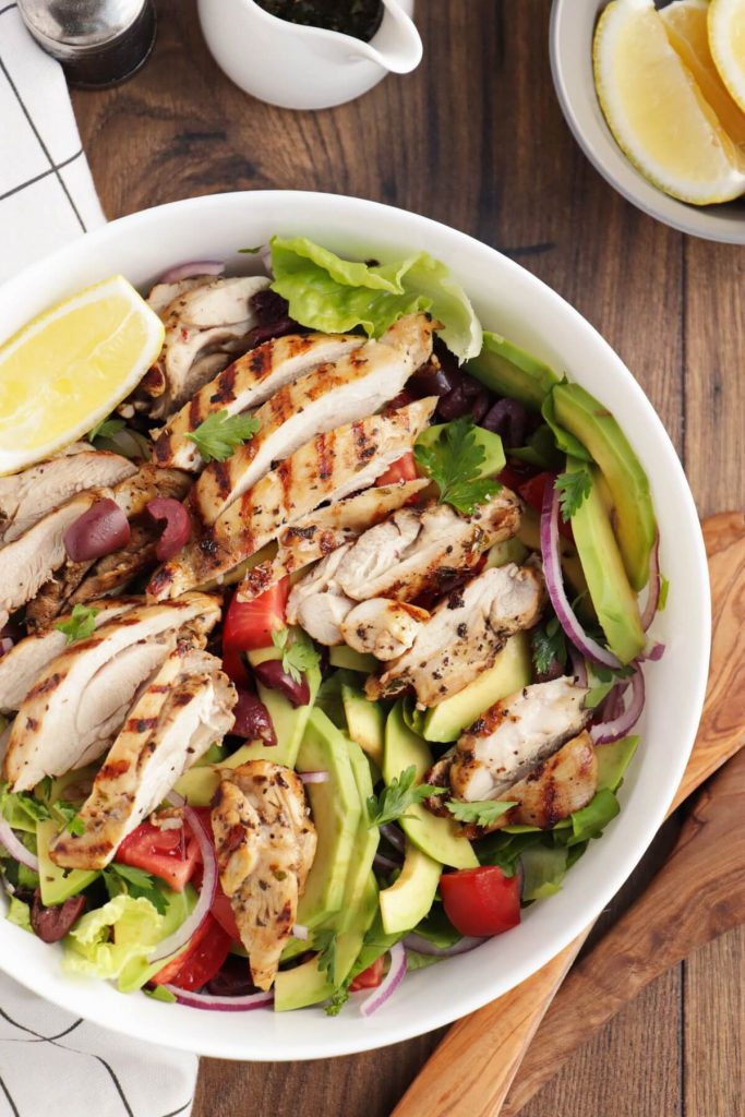 Fresh and Tangy Chicken Salad from the Med
