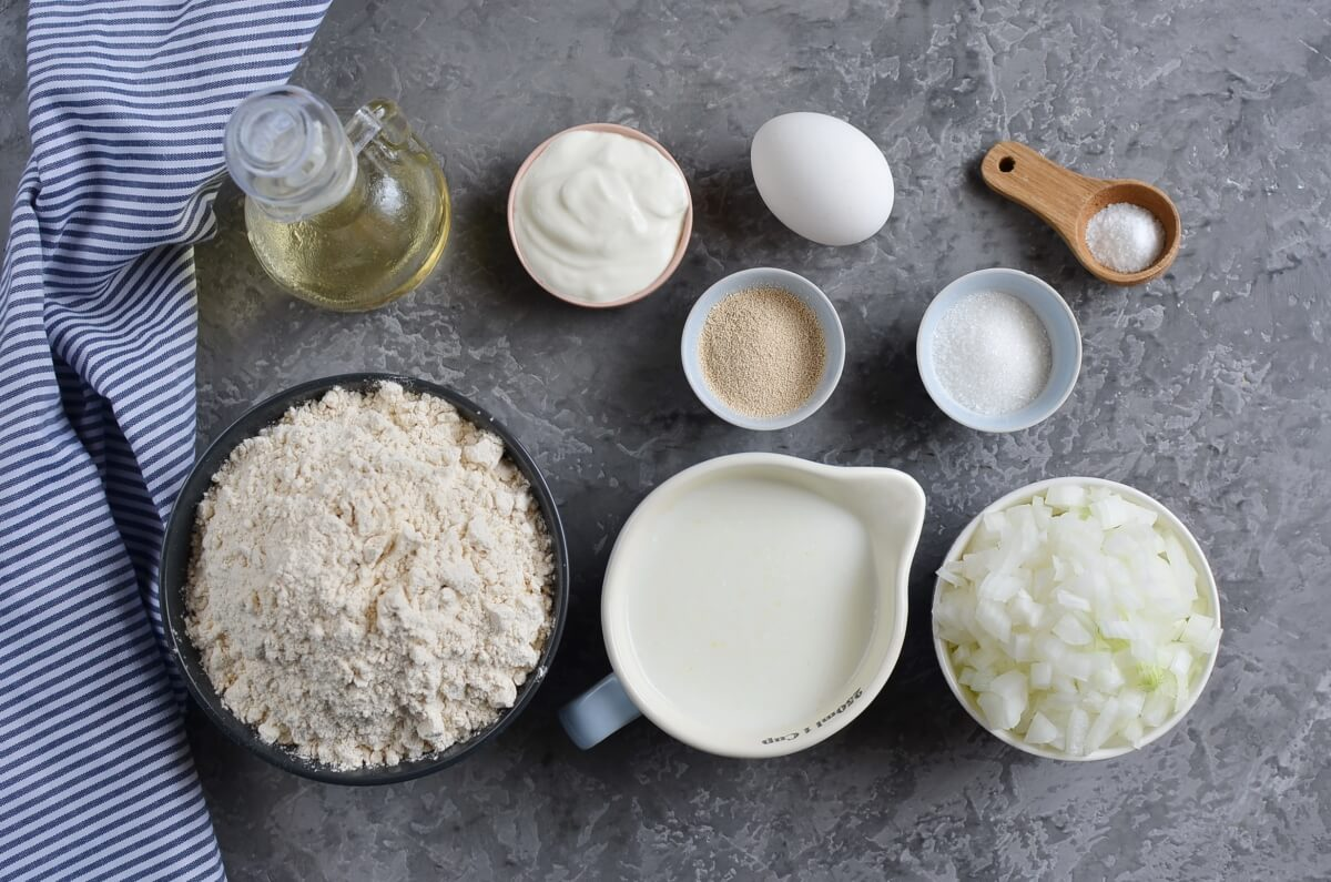Ingridiens for Homemade Onion Bread